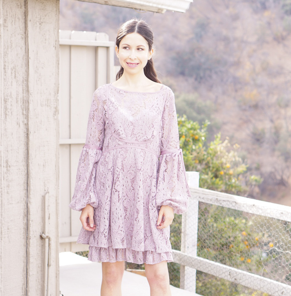 Lace Lilac Dress for Spring