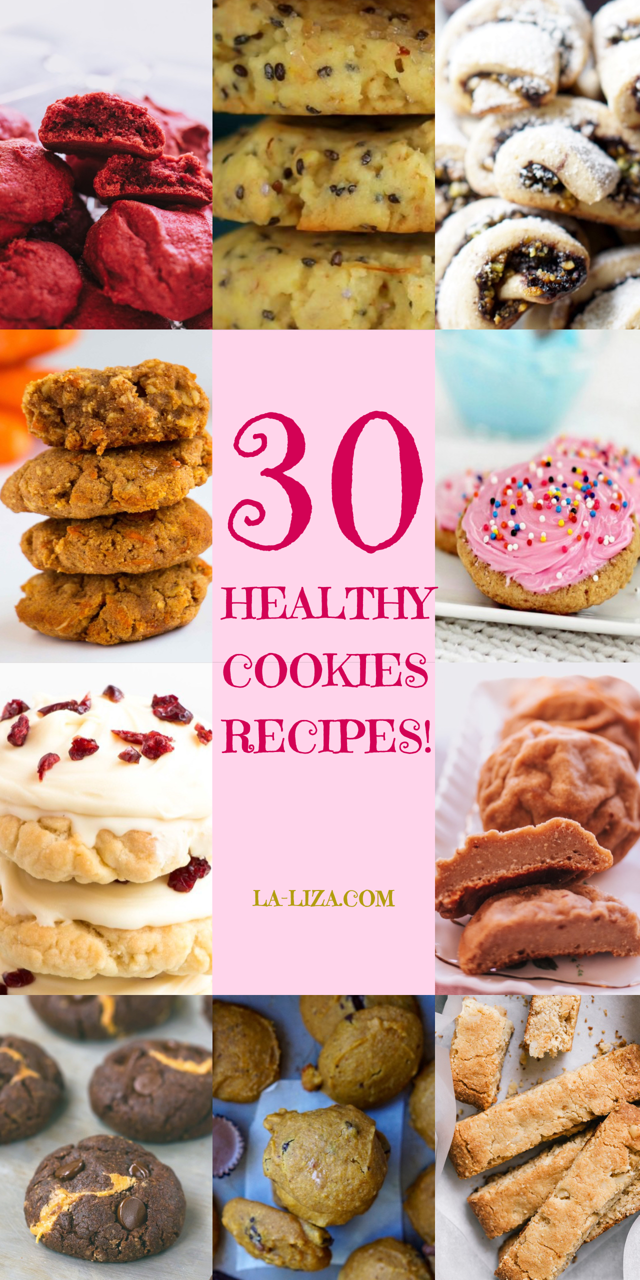 30 Yummiest Healthy Low-Calorie Holiday Cookies Recipes! #LowCalorie #LowCalorieCookies #HealthyCookies #Christmas #ChristmasCookies #HealthyChristmasCookies #HealthyBaking