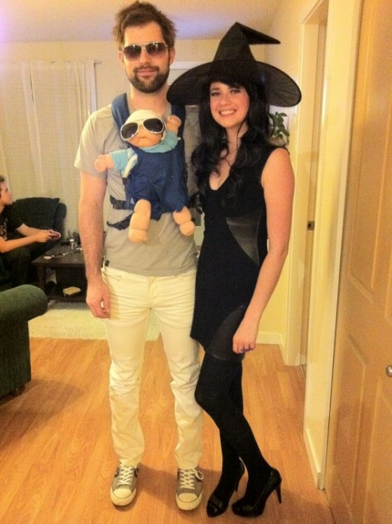 2011. Adam as Alan from The Hangover (who wore it better?) and would you look at those pants?! Me as a witch.