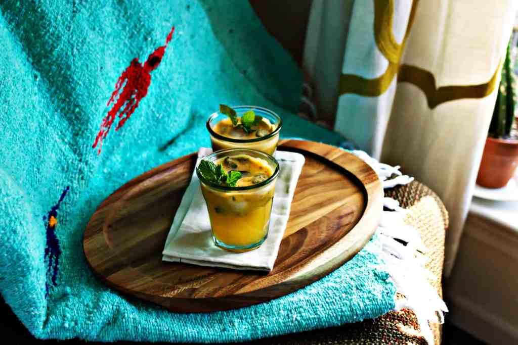 bubbly satsuma & mint mocktail | via sweet miscellany