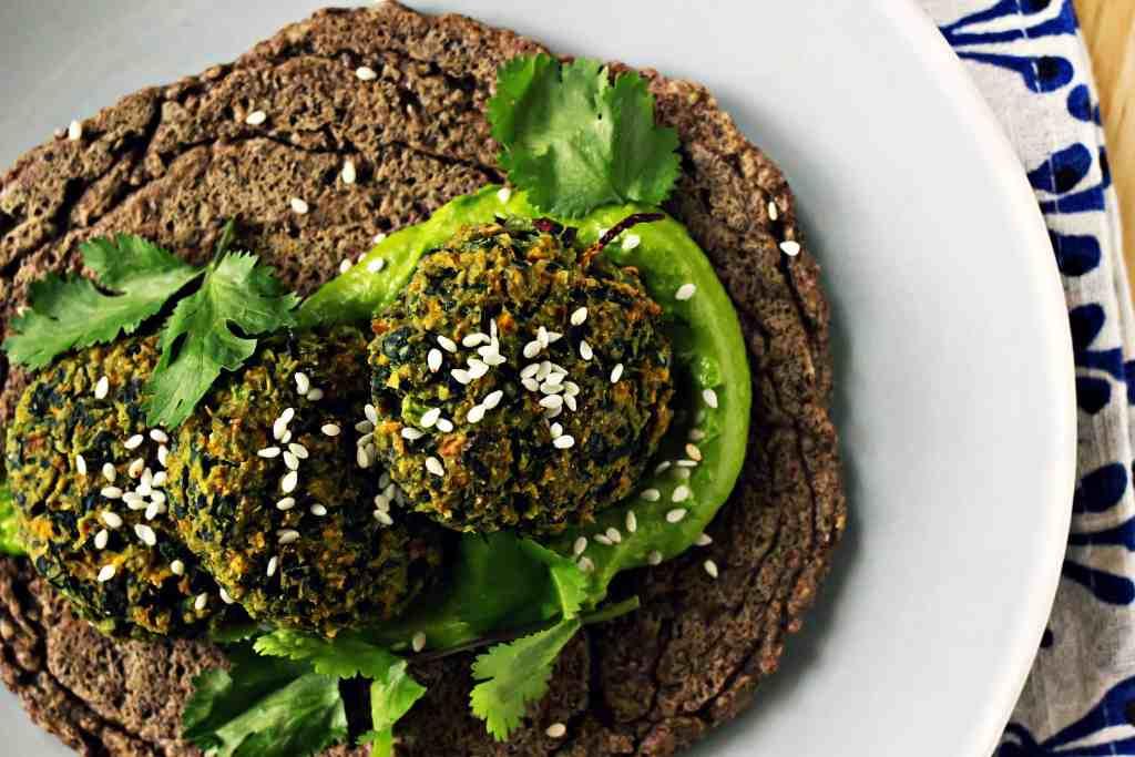 loam collaboration: spring falafel with cilantro tahini cream   via sweet miscellany