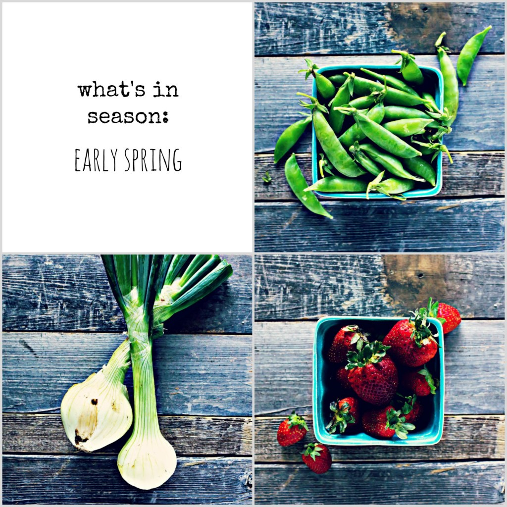 early spring seasonal food guide | via sweet miscellany