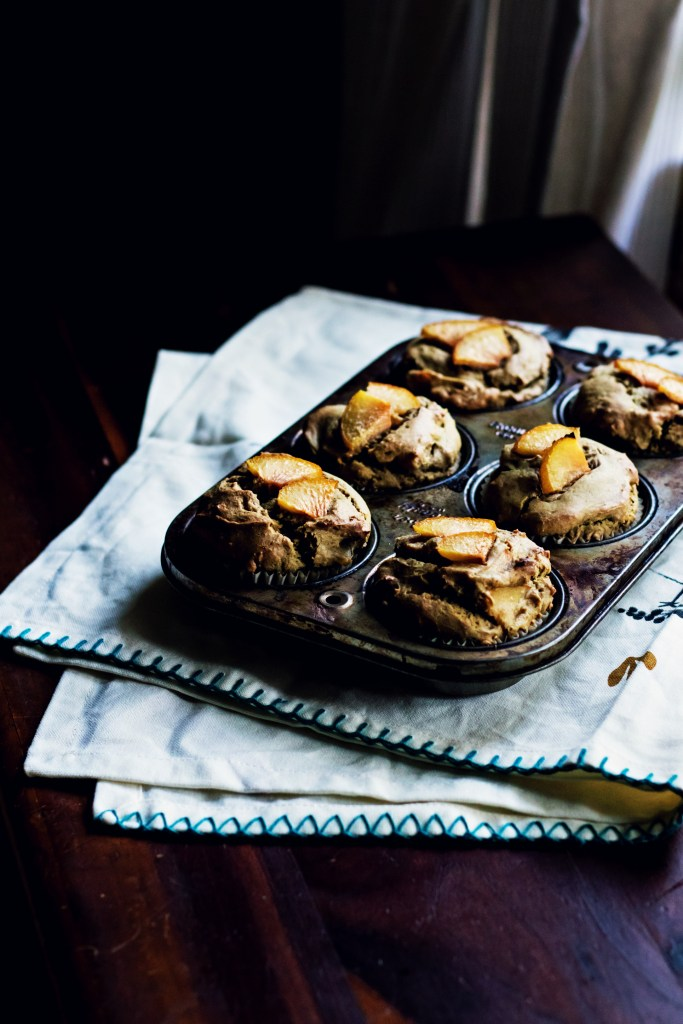 sunny sunbutter plum muffins | plant based recipes via sweet miscellany