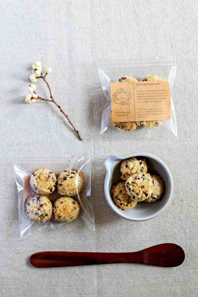cacao nib macaroons by sweet miscellany (grain free & vegan)
