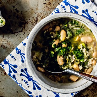 Loam Collaboration: Mixed Greens Soup with Cilantro Pistou | plant based gluten free goodness via sweet miscellany