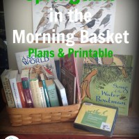 Springtime in the Morning Basket  - Plans and Printable