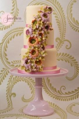 spring wedding cake,peach wedding cake, wedding cakes london, london wedding cake company, pastel wedding cakes