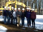 The Board of Directors celebrating groundbreaking for the new shelter.