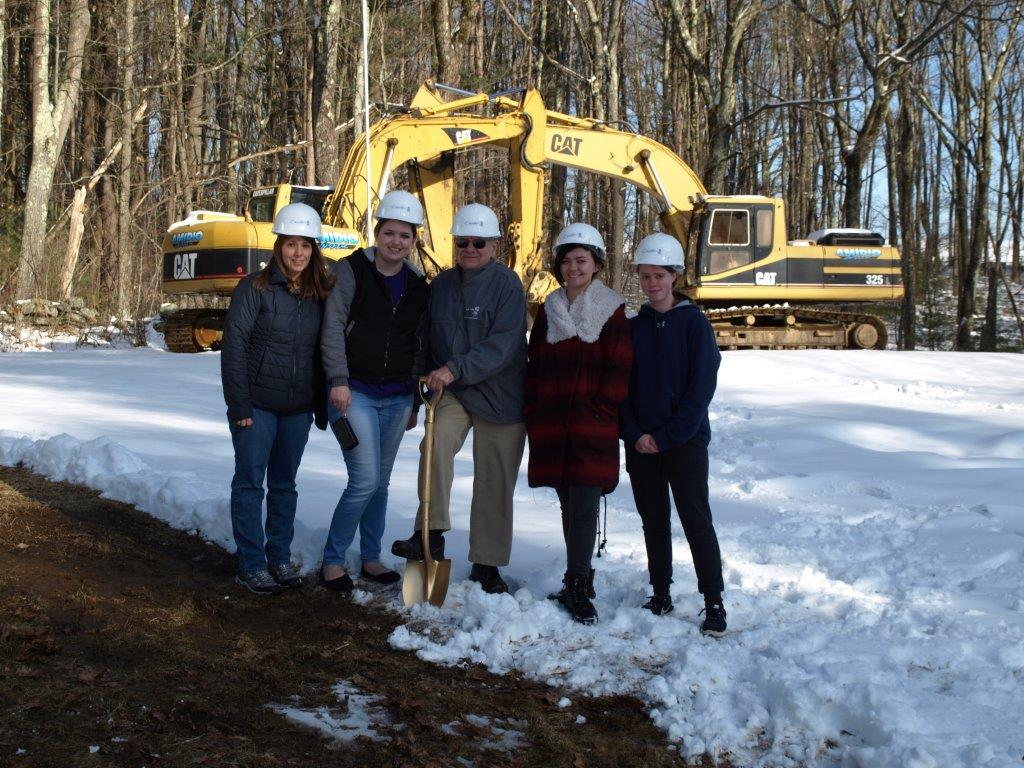 Our younger volunteers celebrate groundbreaking.