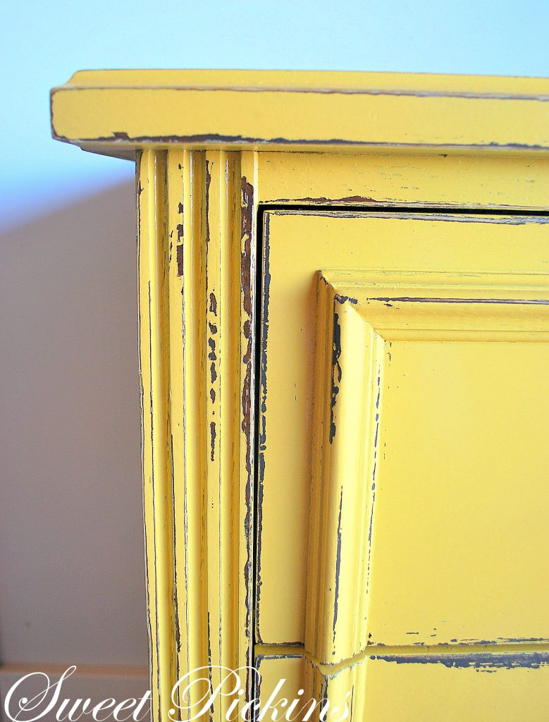 Before Amp After Fun Yellow Dresser Sweet Pickins