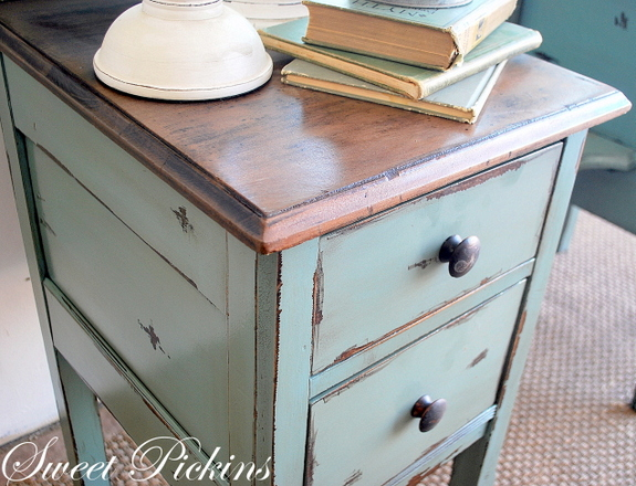 painted antique vanity