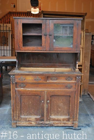 Antique Hutch Super Distressed Sweet Pickins Furniture