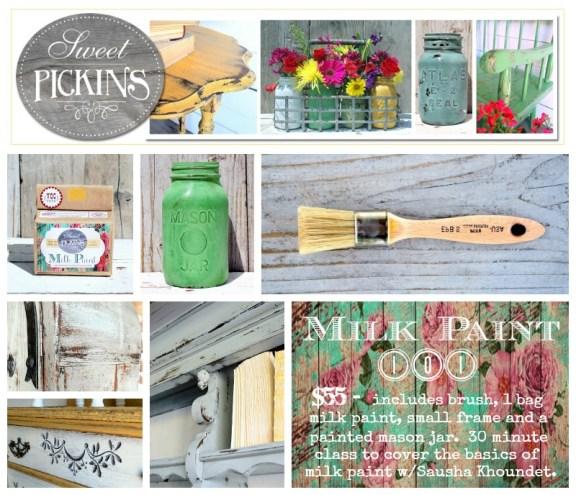 Sweet Pickins Milk paint Class