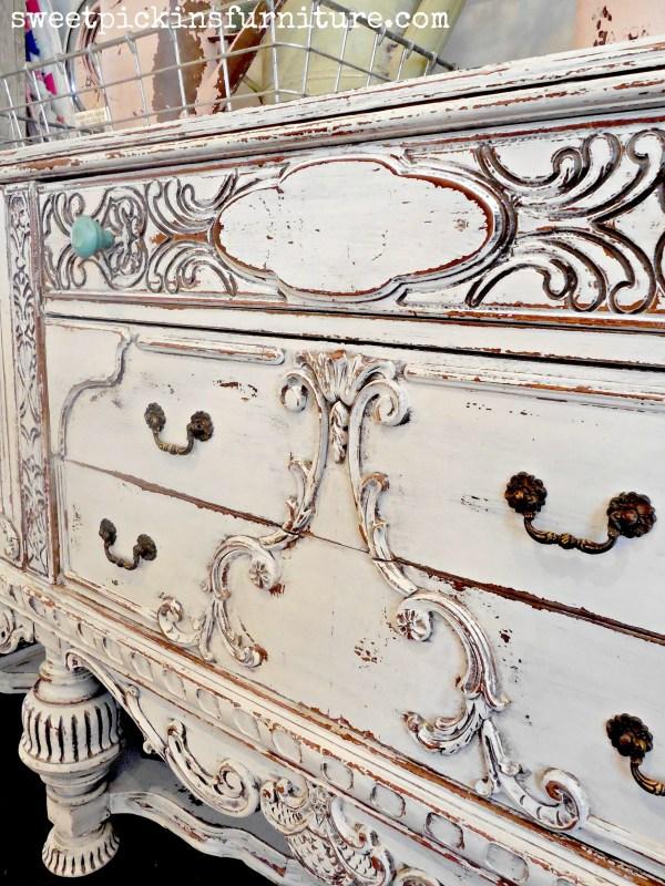 Sweet Pickins Milk Paint - painted antique buffet
