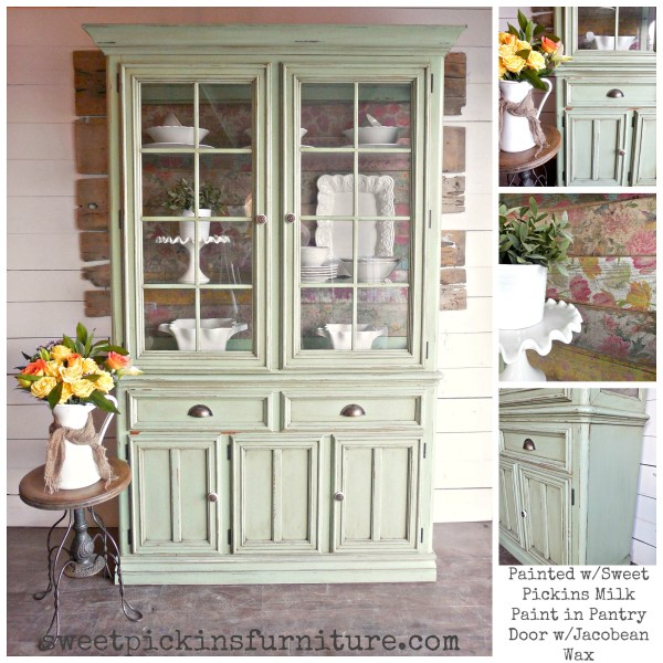 Sweet Pickins Milk Paint - Pantry Door Hutch collage