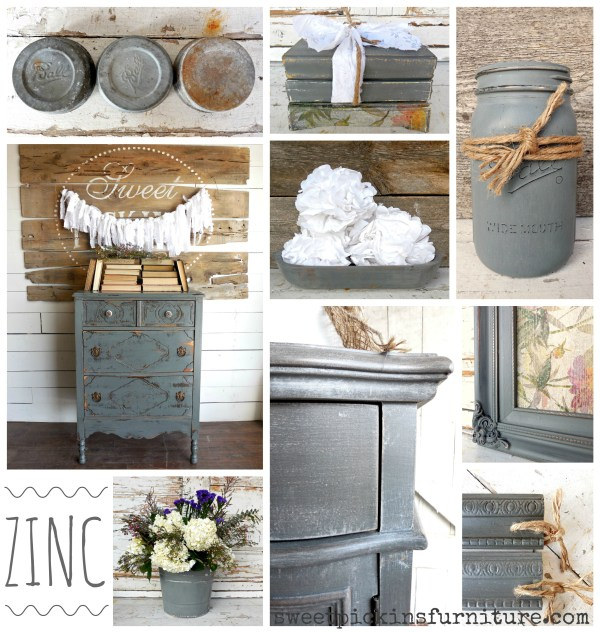 Sweet Pickins Milk Paint - Zinc
