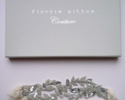 Florrie Mitton Aphrodite Beaded Wedding Garter