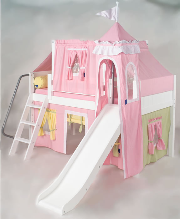 Princess Castle Loft Bed With Slide Modern Home Exteriors