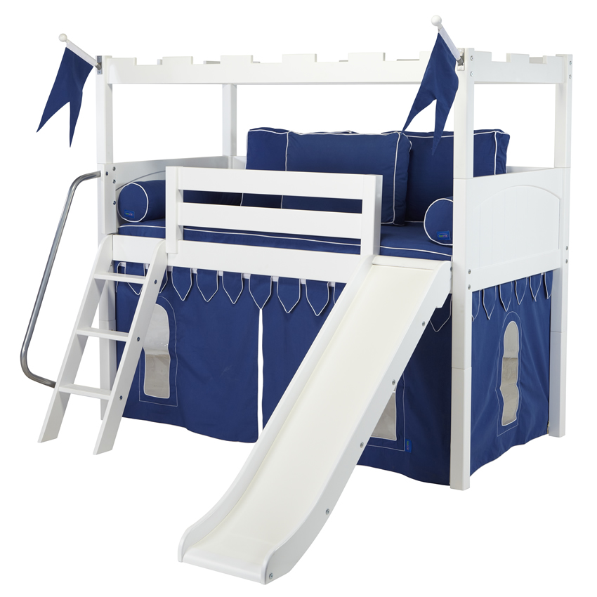bed bunk bed with slide