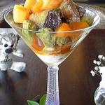 Cafe 中野屋『金時芋とキャラメルマリネした柿とあんぽ柿、柿のマルメラータ掛けの秋味なパフェ』