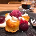 チーズキッチン ラクレ『クワトロベイクドチーズケーキ マスカルポーネと巨峰コンポート』