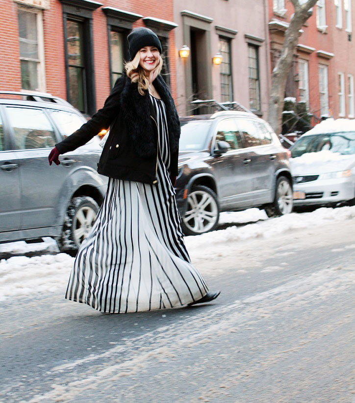 NYFW Day 2: How to Wear a Maxi During the Winter