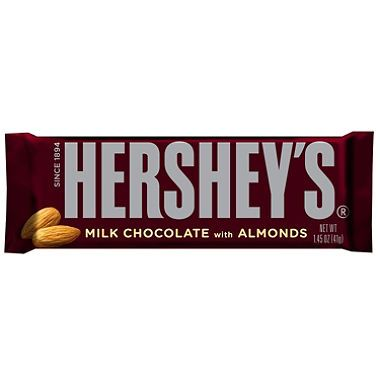 Hershey Almond Bar 36 Count Chocolate Candy