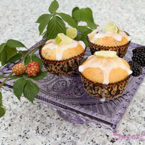 Brombeer-Limetten-Muffins mit Chia … (vegan)