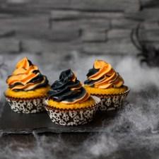Halloween-Cupcakes … (vegan)