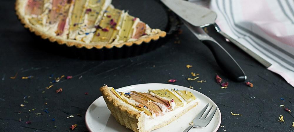 Rhabarber-Cheesecake-Tarte … (vegan)