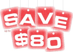 Save up to $80