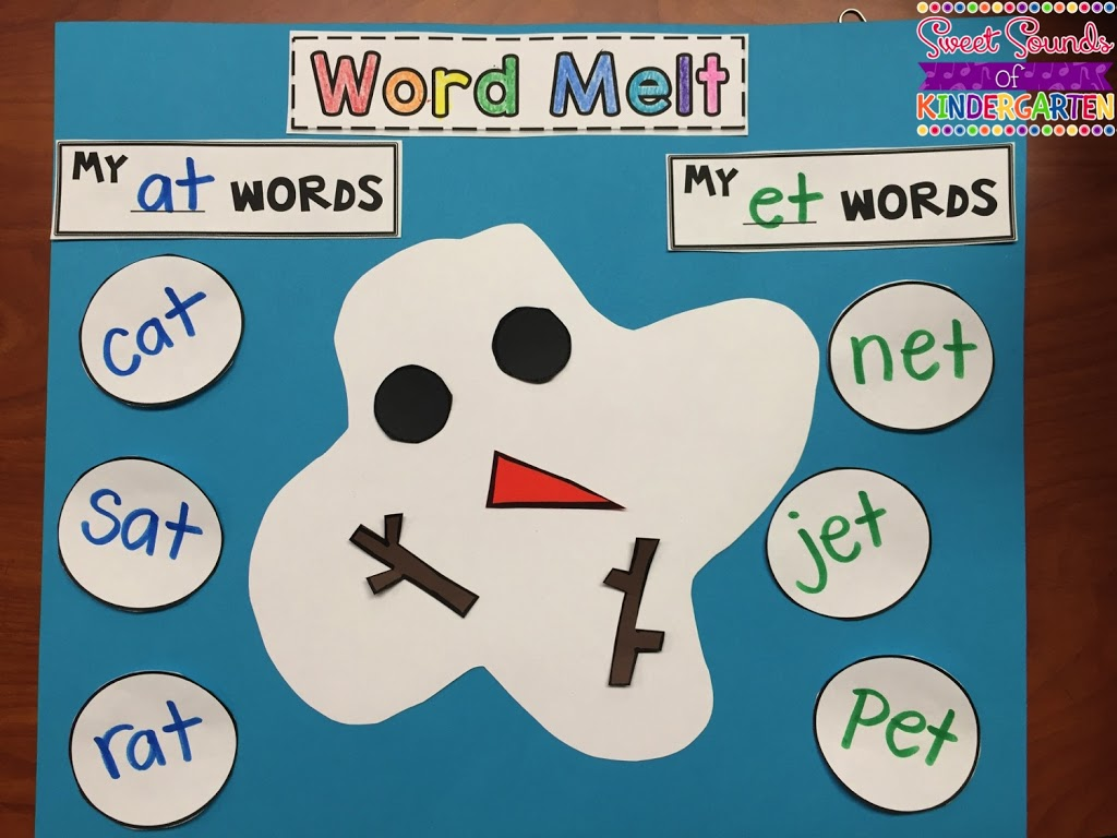 Sneezy The Snowman Word Melt Freebie
