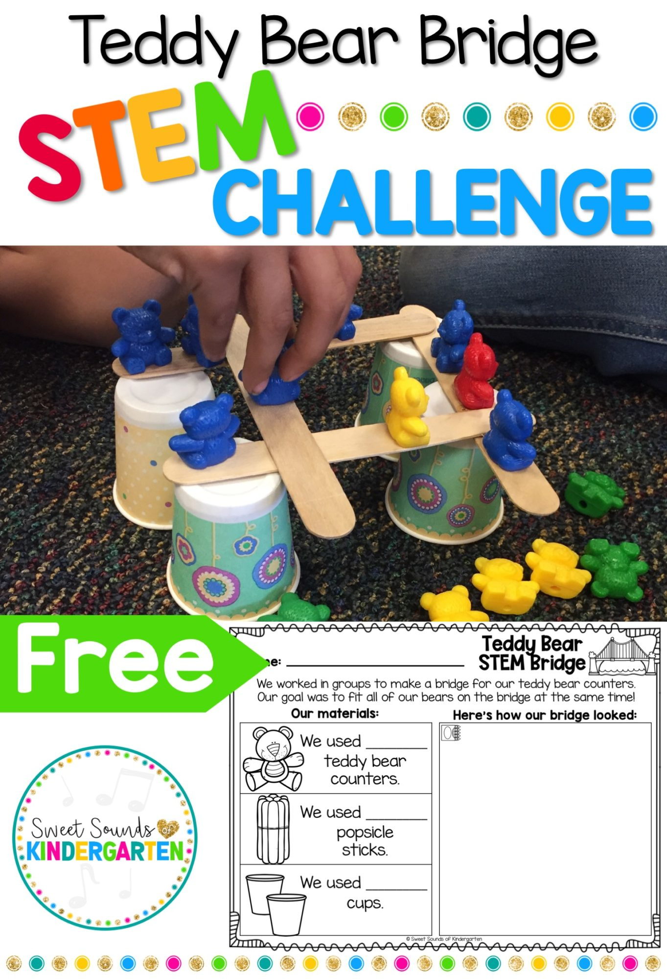Teddy Bear Bridge Stem Challenge