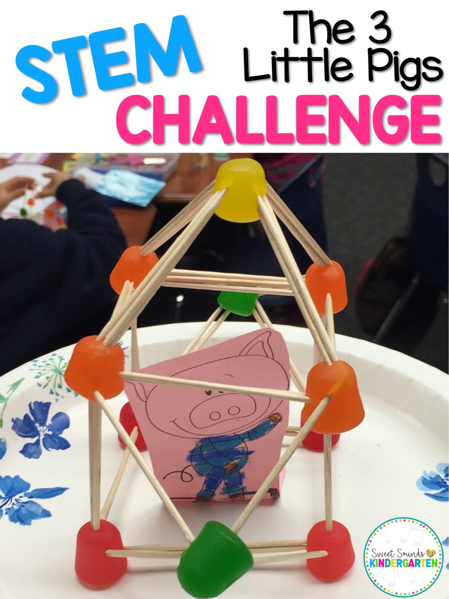 The 3 Little Pigs Stem Challenge