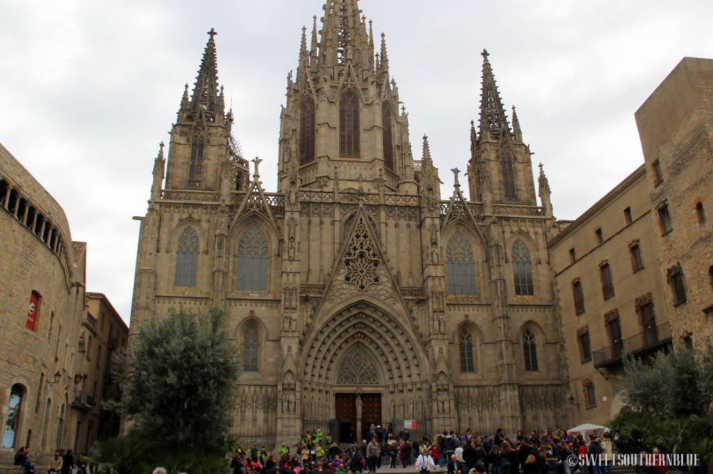 Gothic Quarters In Barcelona Spain Sweet Southern Blue