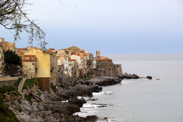 Cefalu Sicily Small Fishing Village In Southern Italy