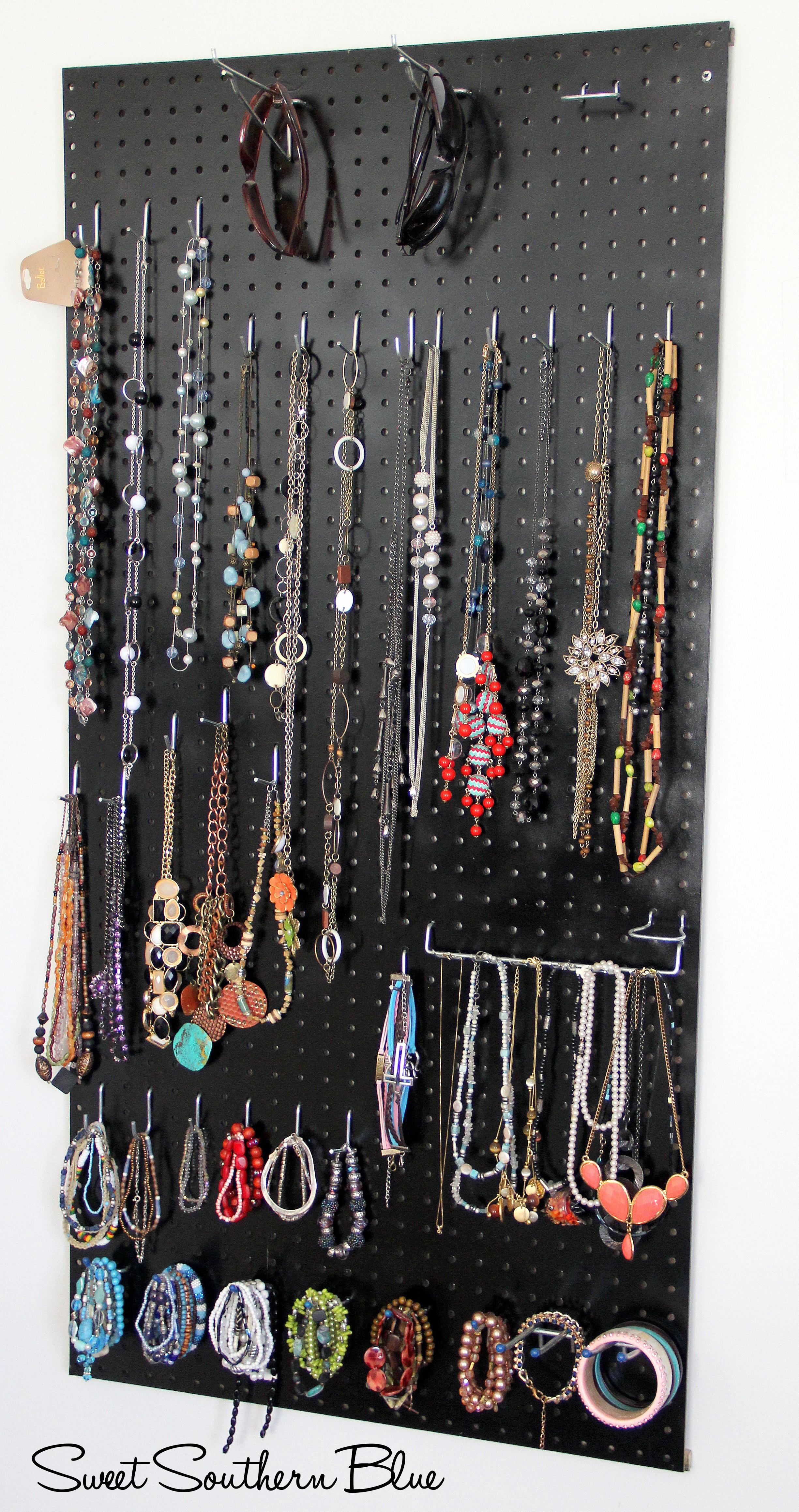 DIY - Peg Board Jewelry Holder | Sweet Southern Blue