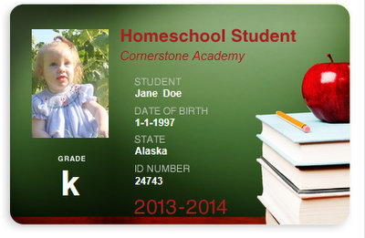 FREE Homeschool Student ID CARD