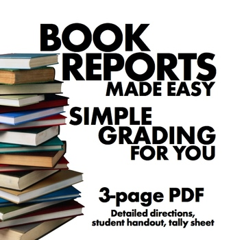 Tired of Book Reports? Try this FREE idea instead – Easy grading for you!