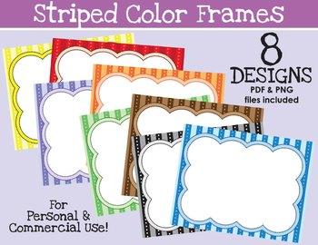 Striped Color Frames {FREEBIE}
