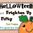 HallowTeen and Frighten Up Fifty Math Game Freebies