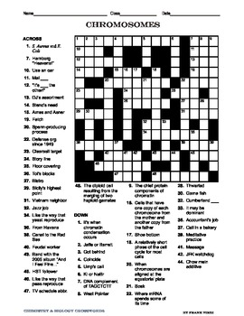 Biology Crosswords I
