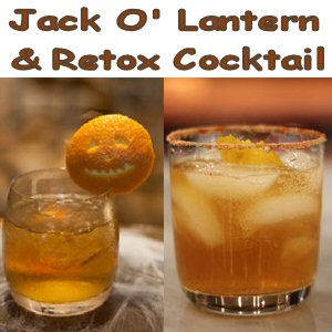 Retox Cocktail and Jack O' Lantern Drink Recipes Plus Bellemain 6 Oz. Whiskey Glasses Review