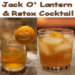 Retox CocktailandJack O'Lantern Drink Recipes Plus Whiskey Glass Review