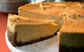Pumpkin Cheesecake with Gingersnap Crust Holiday Recipe