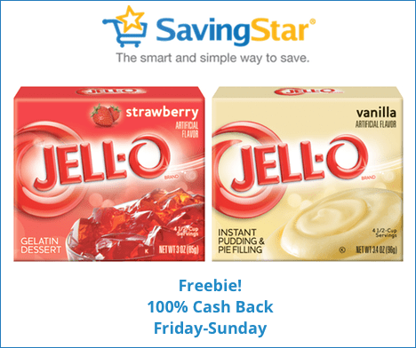 Free Jello Pudding or Gelatin From SavingStar