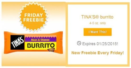Free SavingStar Tina's Burrito