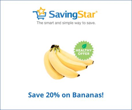 Save 20% on any single purchase of Bananas at participating retailers. Check back every Tuesday for a new Healthy Offer.