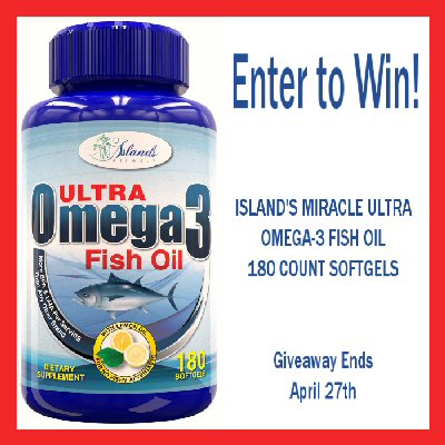 2 WINNERS - IslandsMiracle Fish Oil Review Giveaway