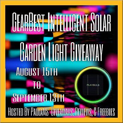 GearBest Intelligent Solar Garden Light Giveaway